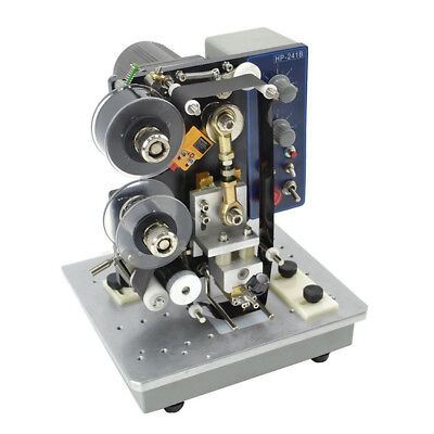 Semi-automatic Electric Hot Stamp Ribbon Code Printer Ribbon Coder Hp-241b