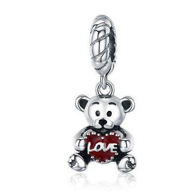 Fit Women Charm 925 silver Bead Enamel Monkey Dangle Fit Bracelet Chain BAMOER](Monkey Charm)