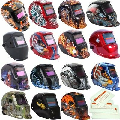 Auto Darkening Solar Pro Welding Helmet 3 Lens Mask Grinding Welder Mask