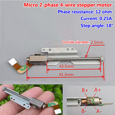 2-phase 4-wire Micro Stepper Motor Long Linear Screw Lead Slider Shaft 18 Degree