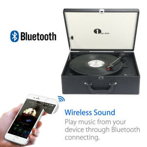 New Suit-case Style Turntable with Speaker, Bluetooth support