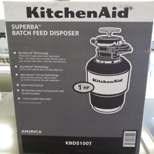 Feed Disposer Kitchen Aid Stainless Steel - Warranty Included!