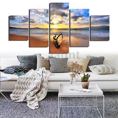 Sea Beach Unframed Canvas Modern Painting Print Home Room Art Wall Decoration