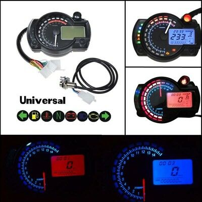 Universal 15000 RPM 299 KMH MPH Odometer Speedometer Tachometer Motorcycle @VP