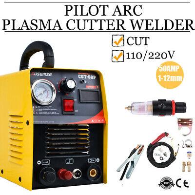 Plasma Cutter 50amp Compressor Igbt Inverter Dual Voltage Pilot Arc Welder Kit