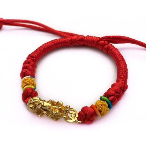 Lucky Red Rope Woven String Bracelet Amulet Protection Buddh