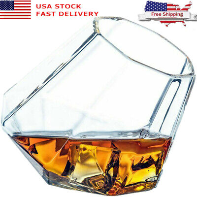 Crystal Wine Glass Cup Wide Belly Cocktail Drink Whiskey Beer Tumbler Glasses](Glasses Cup)