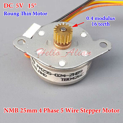Dc 5v Nmb 25mm Round Thin 4-phase 5-wire Stepper Motor Micro Stepping Motorgear