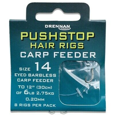 Barbless Drennan Carp Feeder Hair Rigs Hooks to Nylon Match Coarse Fishing