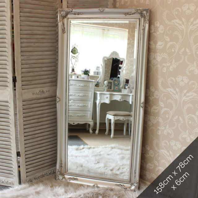 Extra Large Silver Wall Floor Ornate Mirror Bedroom Hall Living ...