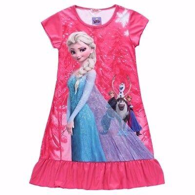Дети одеваются мода Elsa Dress Snow Queen Kids Летний мультфильм Anna Flounce (Snow Queen Elsa Kleid)
