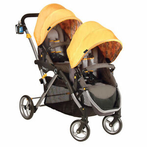 Contours Options Tandem Stroller Yellow/Grey