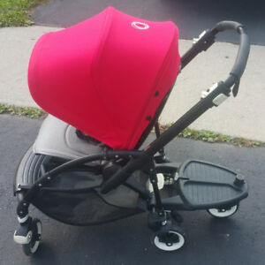 Excellent Condition Bugaboo Bee3 Black frame with wheel board
