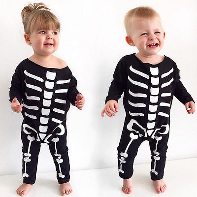 zug Baby Kinder Body Kostüm Monster Geist Karneval 68 74 80 (Skelett Baby Kostüm)