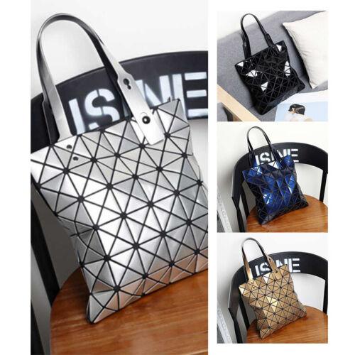 Damen PU Geometrische Handtasche Lingge Umhängetasche Schultertasche Shopping