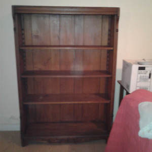ANTIQUE OAK SHELF UNIT CIRCA 1800'S