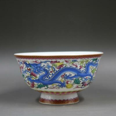 Chinese antique Qing dynasty Qianlong style famille rose fencai porcelain bowl.Chinese antiques bowl,Ornament,ceramic vintage collection