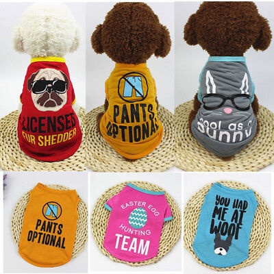 Summer Pet Clothes Puppy Small Dog Cat Pet Vest T-Shirt Coat Costume Apparel - Hot Cat Costume