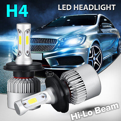 Philips H4 9003 HB2 160W 16000LM LED Headlight Kit White Light Bulbs Hi-Lo Beam