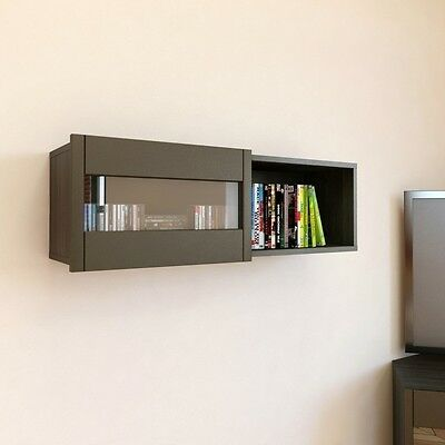 Nexera Wall Shelf W/Sliding Door- 102637 Floating Shelves NEW