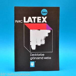 pvac latex farben deckfarbe 1977 ddr werbung werbezettel f rstenwalde ebay. Black Bedroom Furniture Sets. Home Design Ideas