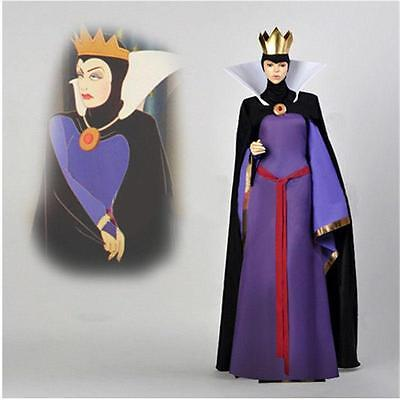 Snow White Evil Queen Stepmother Costume Dress Outfit Halloween Adult Cosplay - Snow White Outfit Adults