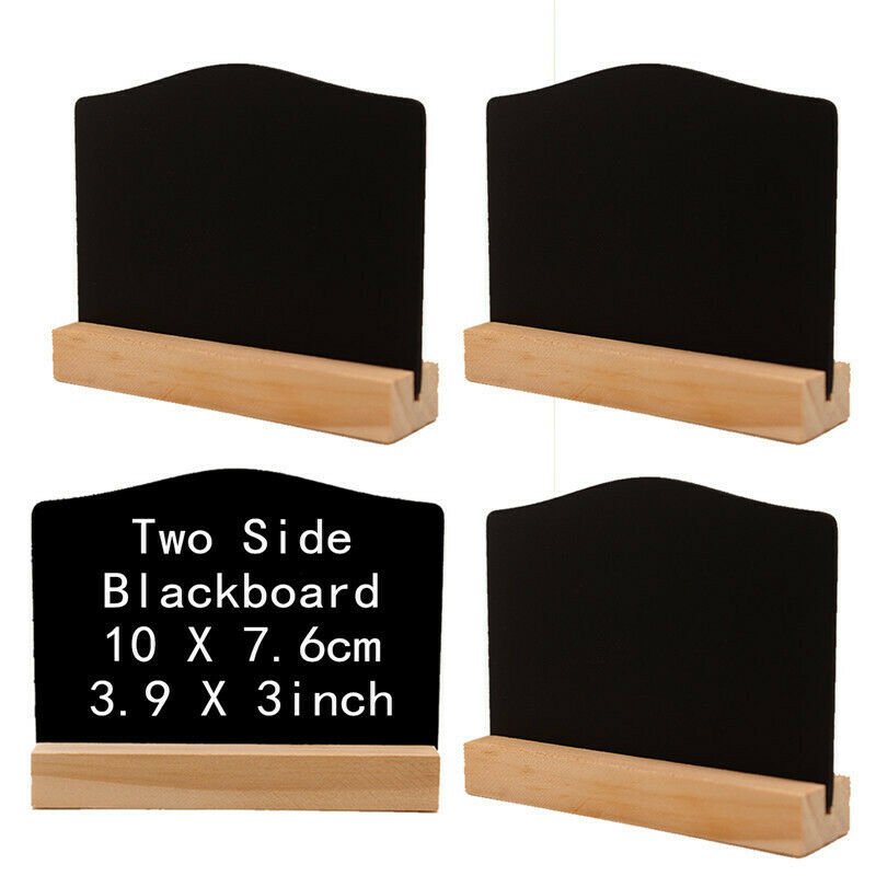10PCS Mini Blackboard Chalkboard Message Note Memo Board With Stand Holder Clip