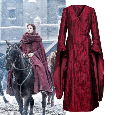 Game of Thrones Cosplay The Red Woman Melisandre Costume Dress Gown - Game Of Thrones Melisandre Costume