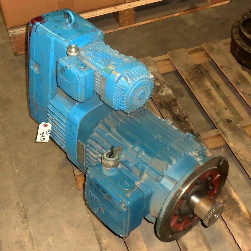 Demag 19.2:1 Ratio 15kw/.86kw Microspeed Gear Motor Unit Fg08 U0-h1-f1