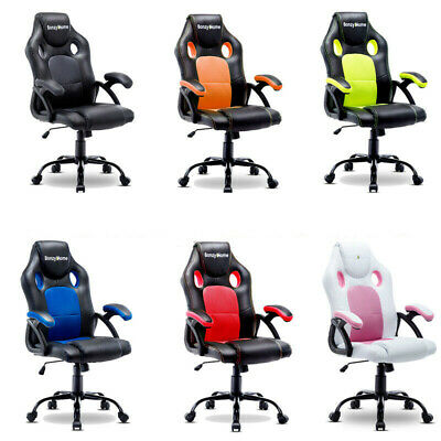 Ergonomic Gaming Racing Chair Computer Desk Swivel Office Executive Pu Leather