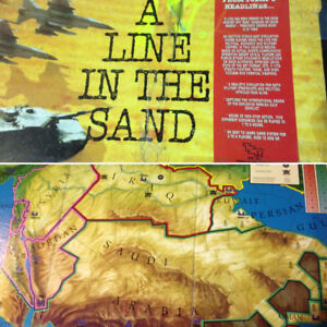 A LINE IN THE SAND war Board Game 90's Collectible $20 reg$70
