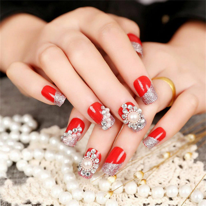 Купить 3D Nail Art Rhinestones Glitters Beads Acrylic Tips Decoration Manicure Wheels
