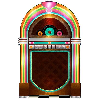 JUKEBOX Lifesize CARDBOARD CUTOUT Standup Standee Poster 50s Fifties Party Prop (Jukebox Prop)