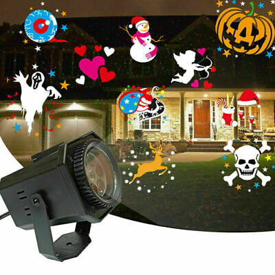 Christmas Projector Light LED Laser Landscape Outdoor Xmas Halloween Spotlight