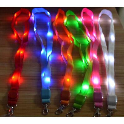 LED leuchten Halsband Schlüsselband ID-Badge Hängende Spitze Seil Schlüsselring