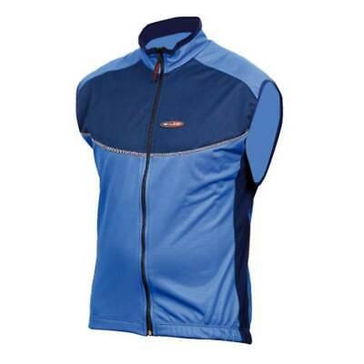 MASSI Windtex chaleco, chaleco de bicicleta, ciclismo masculino, Azul / Negro, X