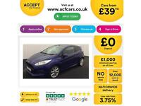 Ford Fiesta 1.0 ( 125ps ) EcoBoost ( s/s ) 2013.25MY Zetec S FROM £39 PER WEEK