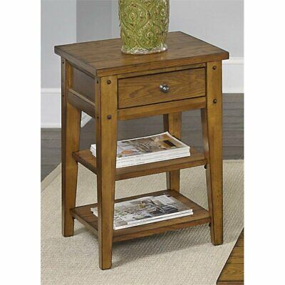 Liberty Furniture Lake House Side Table in Oak