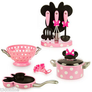 disney minnie mouse kitchen cooking play set chef