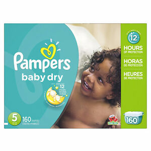Brand New Pampers Baby Dry Diapers Size-5 (160-Count)