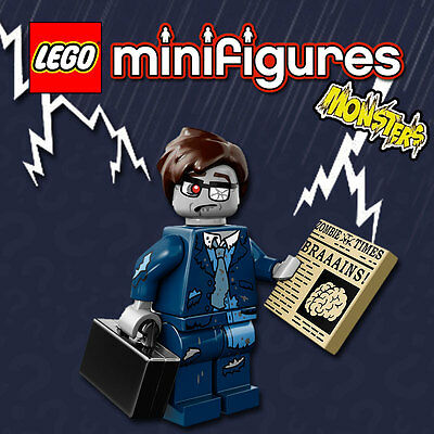 LEGO Minifigures #71010 - Halloween / Monsters - Zombie Businessman - Sealed