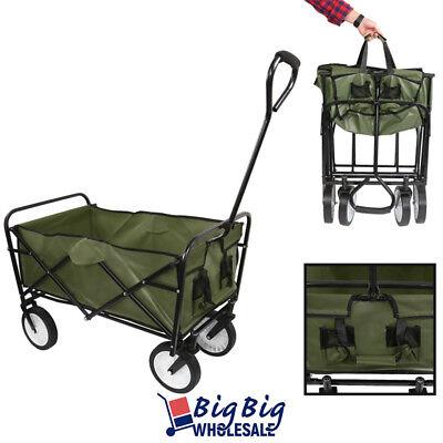 Beach Wagon Cart Kid Folding Collapsible Camping Trolley Gar