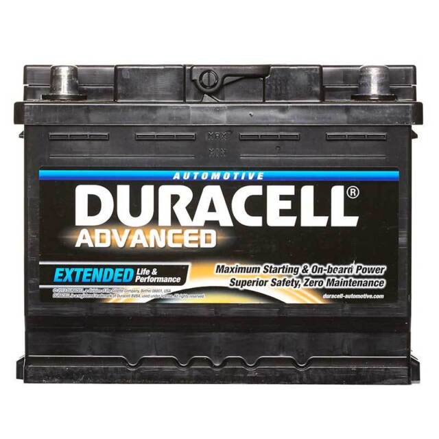 Duracell Advanced Car Battery 12V 63Ah Type 027 600CCA Sealed OEM Replacement