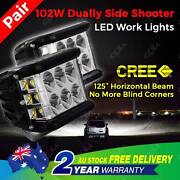 NEW Pair CREE 102W Offroad Work Light 4WD Side Shooter North Melbourne Melbourne City Preview