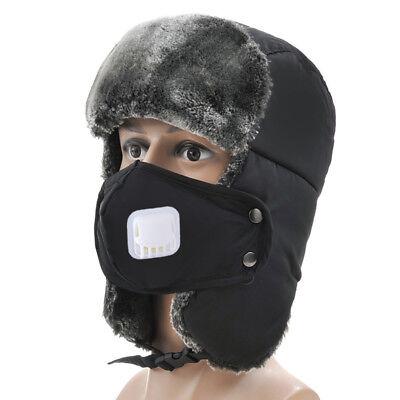 Breathing Aviator Hat Men Women Kid Winter Fur Wool Earflap Ski Ushanka - Kids Aviator Hat