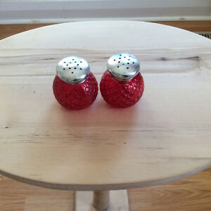 Avon Quilted Salt & Pepper Shakers