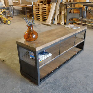 Industrial Media Console/Credenza Steel and Wood London Ontario image 2