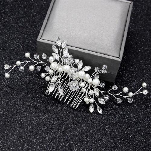 Kristall Perlen Frauen Haarschmuck Hochzeit Haar Kamm Braut Kopfschmuck Fad Fl
