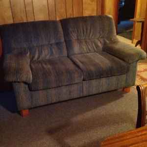 Blue Loveseat & Chair