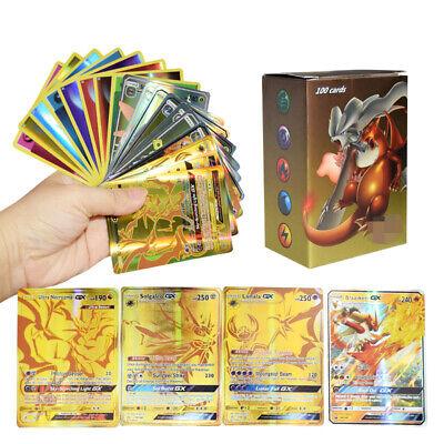 100pcs GX Energy Cards TUA Pokemon Card Holo Flash Trading GX Cards Mixed LOT